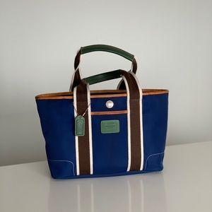 Coach blue handbag